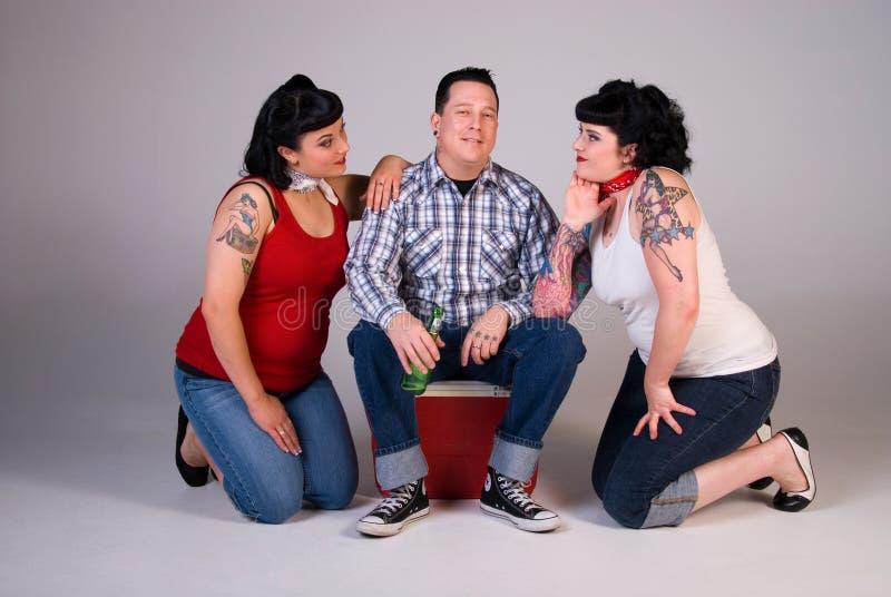 Três amigos. fotografia de stock royalty free