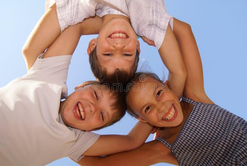 Três amigos do preteen imagem de stock royalty free