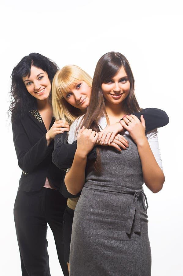 Três amigos fêmeas imagens de stock