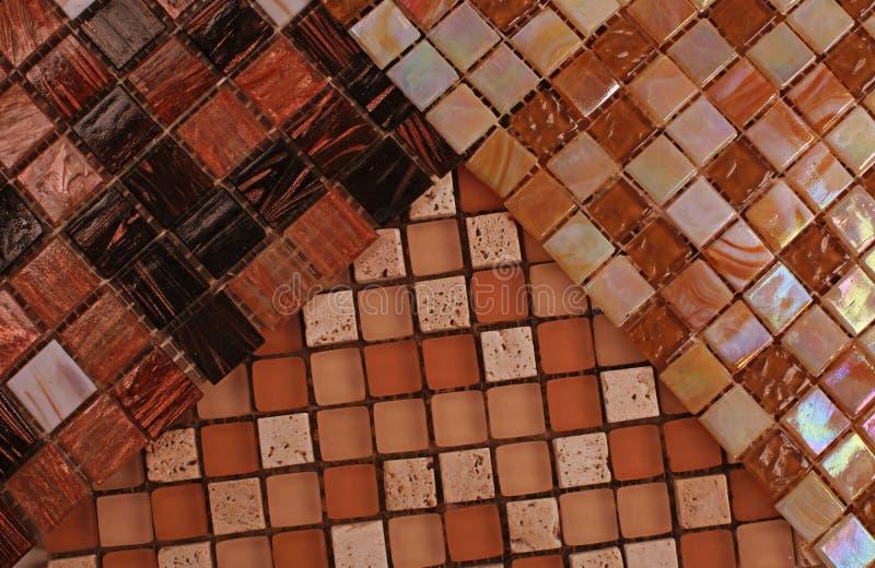 Três amostras de mosaico imagens de stock