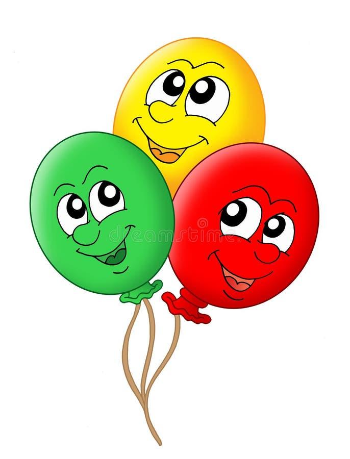 Três balões ilustração royalty free
