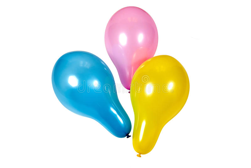 Três balões isolados imagem de stock royalty free