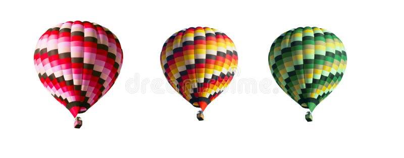 Três balões multi-coloridos fotos de stock