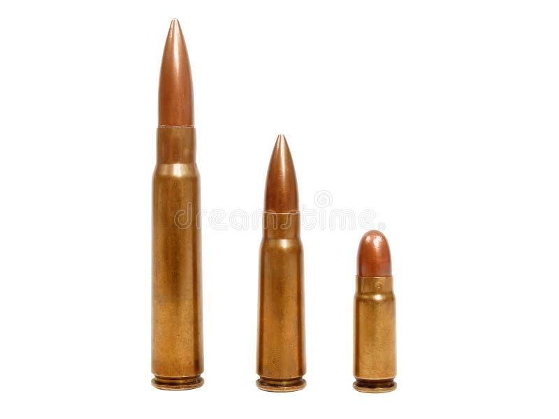 Três balas imagens de stock royalty free