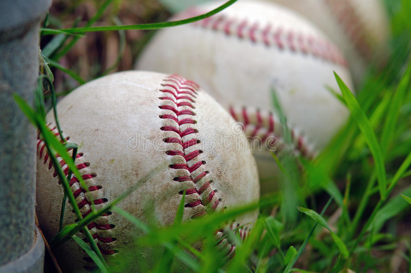 Três basebol fotos de stock royalty free