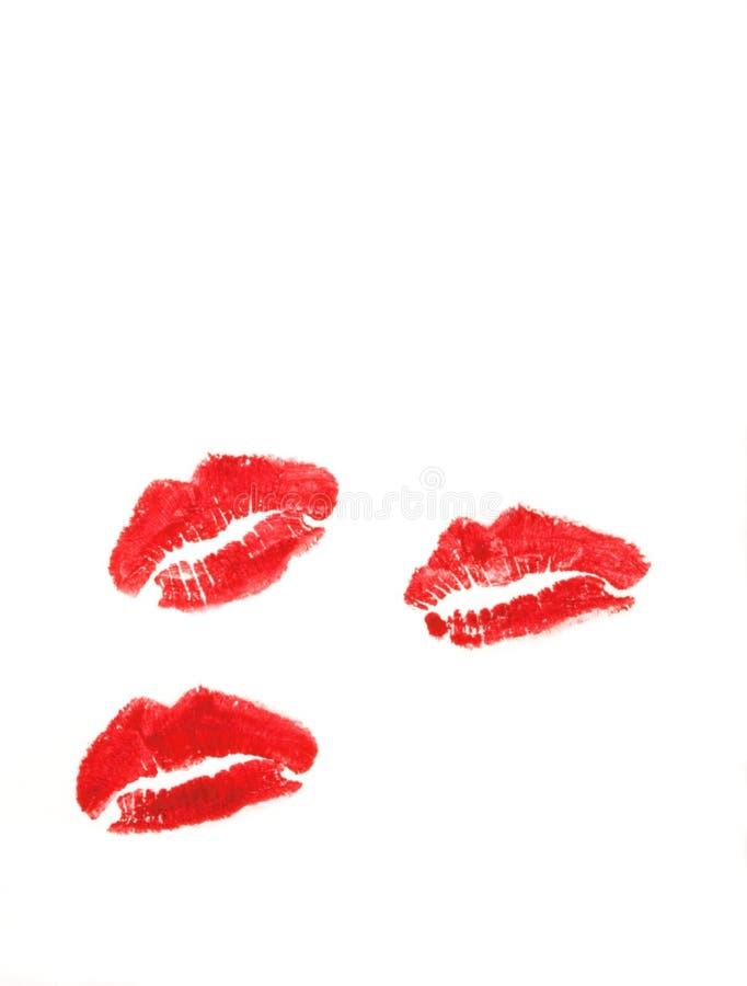 Download Três beijos do batom. foto de stock. Imagem de cartão - 10065872