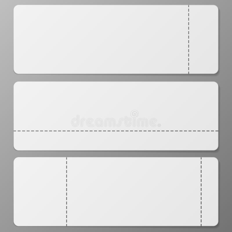 Três bilhetes ajustados ilustração do vetor