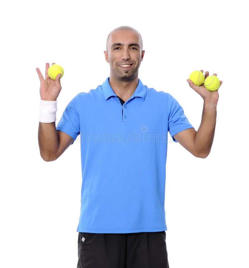 Três bolas de tênis imagem de stock royalty free
