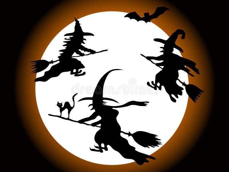 Três bruxas ilustração stock