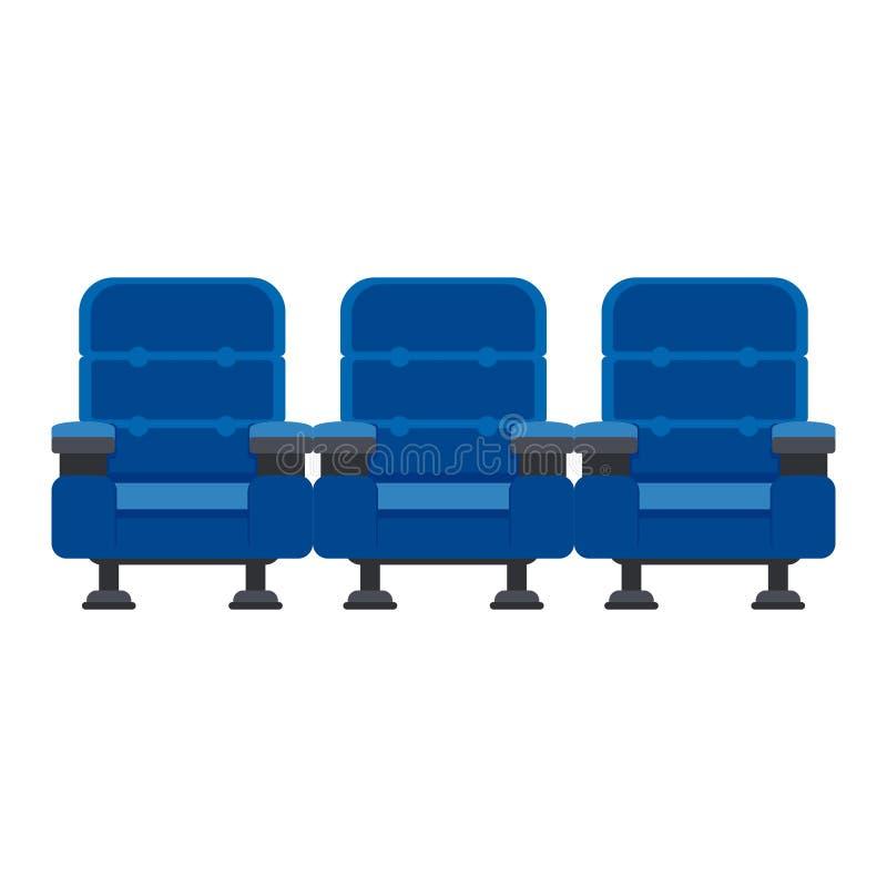 Três cadeiras azuis ilustração royalty free