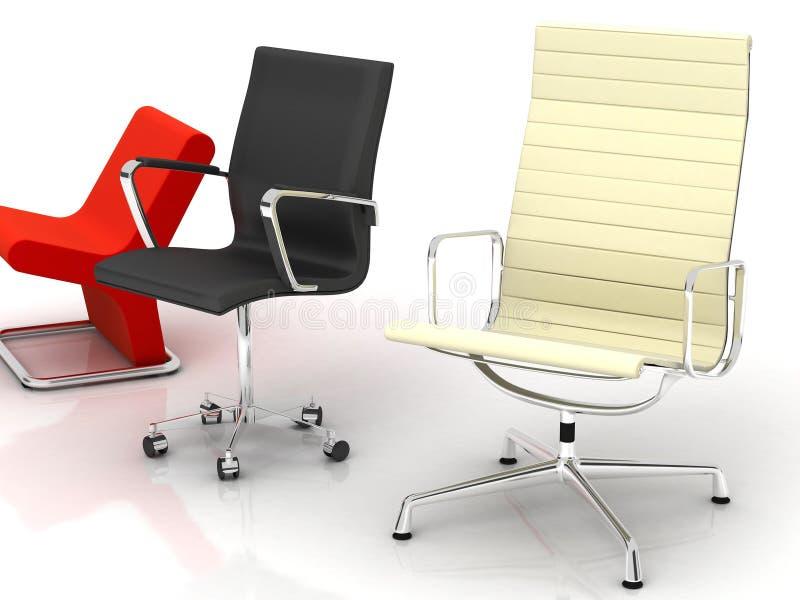 Três cadeiras modernas ilustração stock