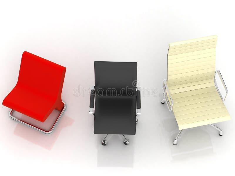 Três cadeiras modernas ilustração do vetor