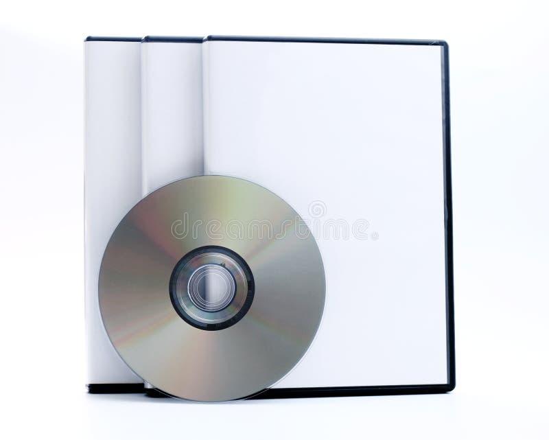 Três casos de DVD fotos de stock royalty free