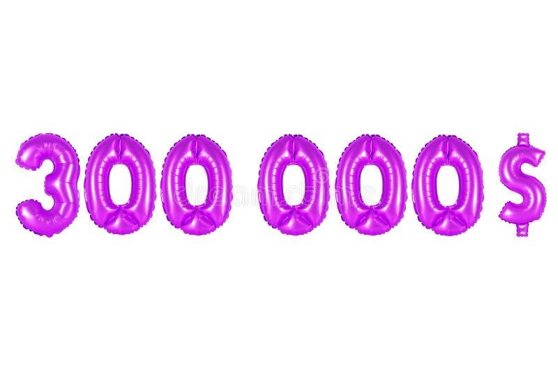 Três cem mil dólares, cor roxa fotos de stock