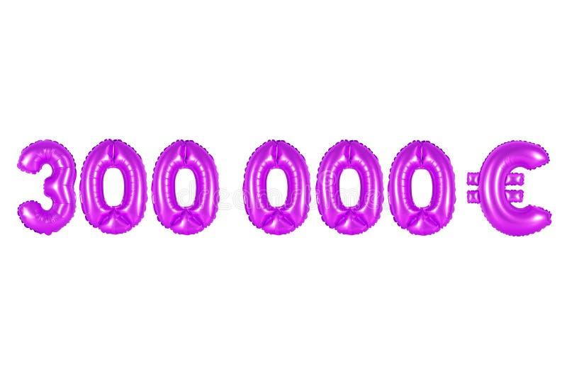 Três cem mil euro, cor roxa fotos de stock