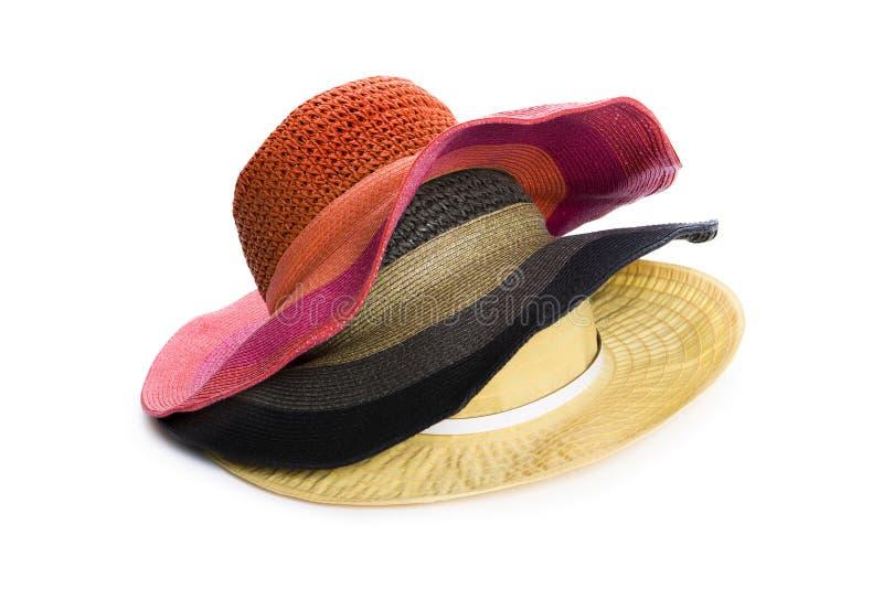 Três chapéus fotografia de stock