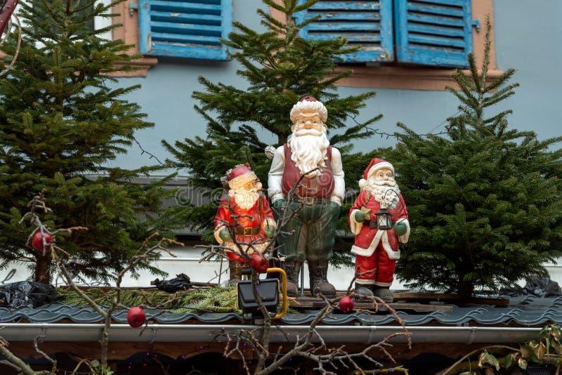 Três cláusulas de Santa imagem de stock