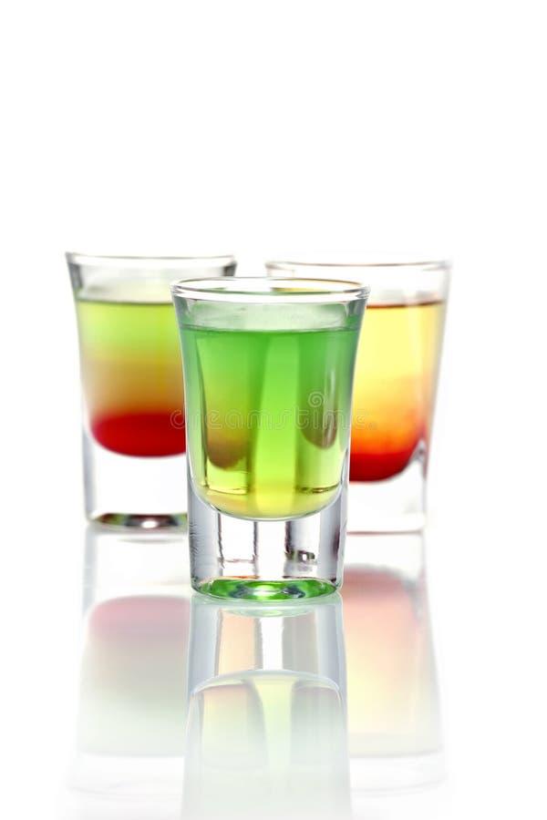 Três cocktail foto de stock