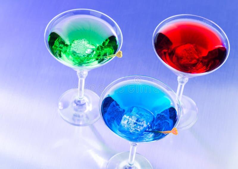 Três cocktail tropicais fotos de stock royalty free