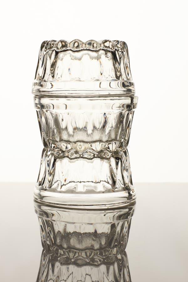 Três copos de vidro do molho pequeno imagem de stock royalty free