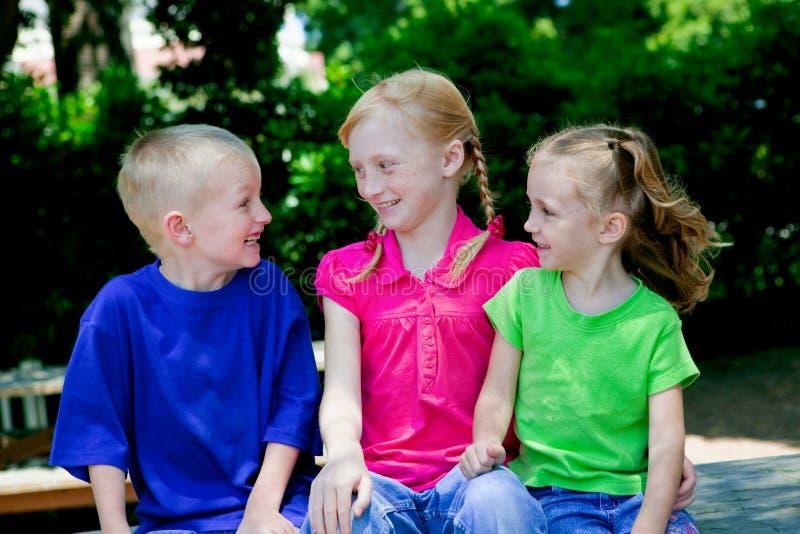 Três crianças foto de stock royalty free