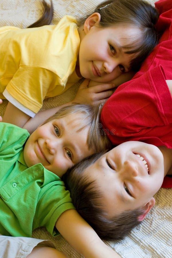 Três crianças imagens de stock