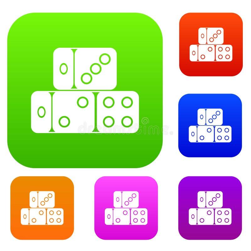 Três cubos dos dados ajustaram a coleção ilustração royalty free