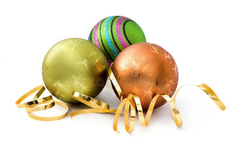 Três decorações do Natal imagens de stock