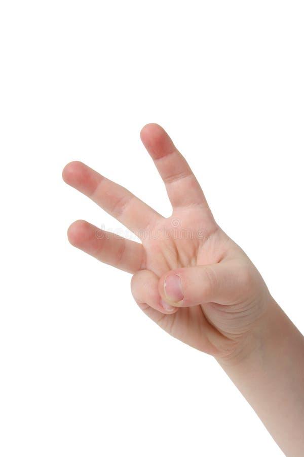 Três dedos imagens de stock royalty free