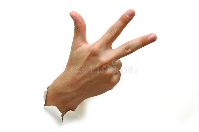 Três dedos fotografia de stock