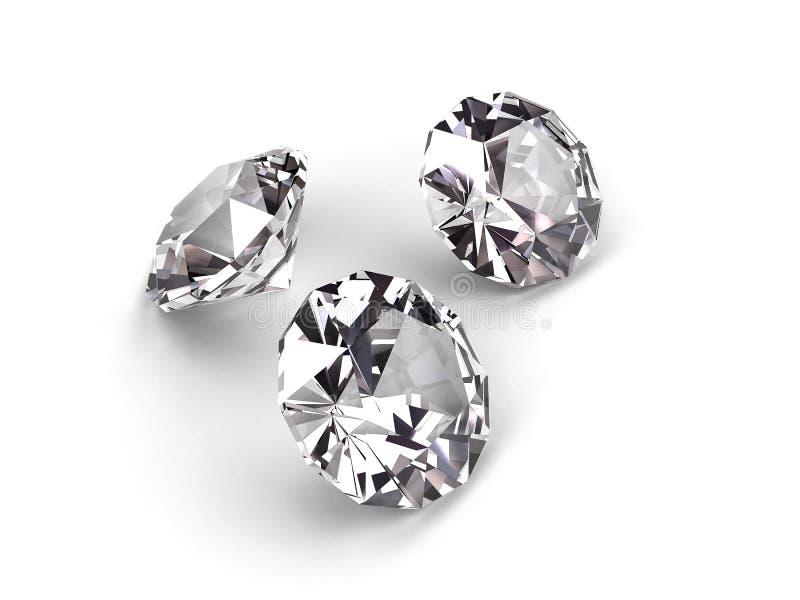 Três diamantes ilustração do vetor