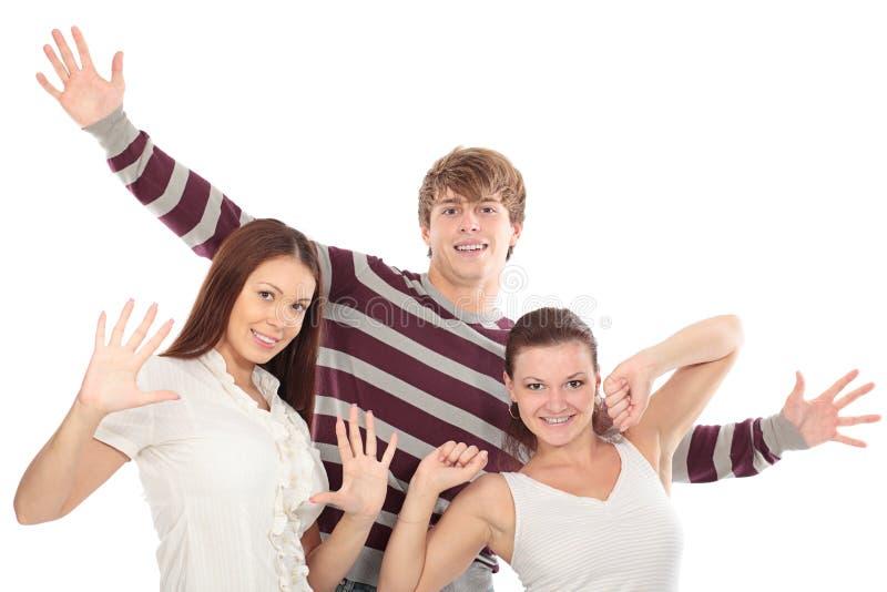 Três dos amigos imagens de stock royalty free