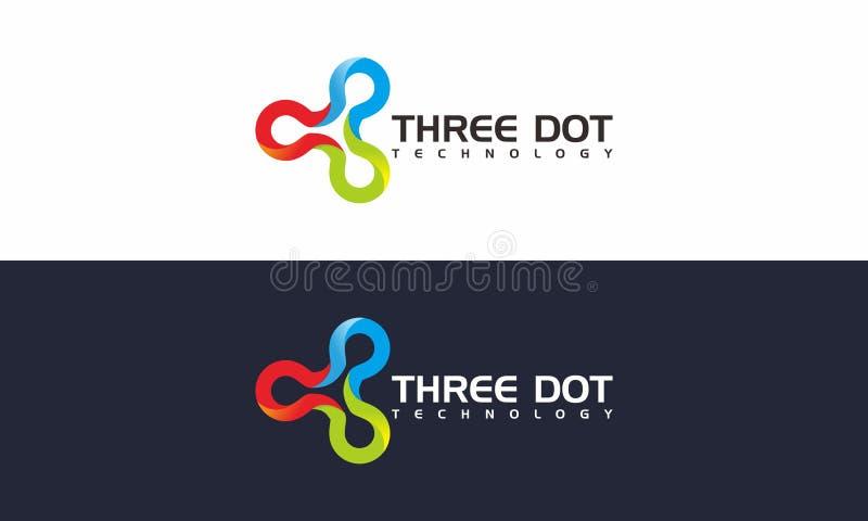 Três Dot Logo ilustração royalty free
