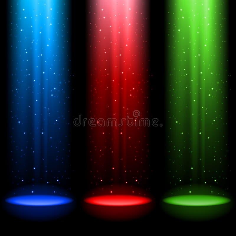 Três eixos do RGB de luz ilustração do vetor