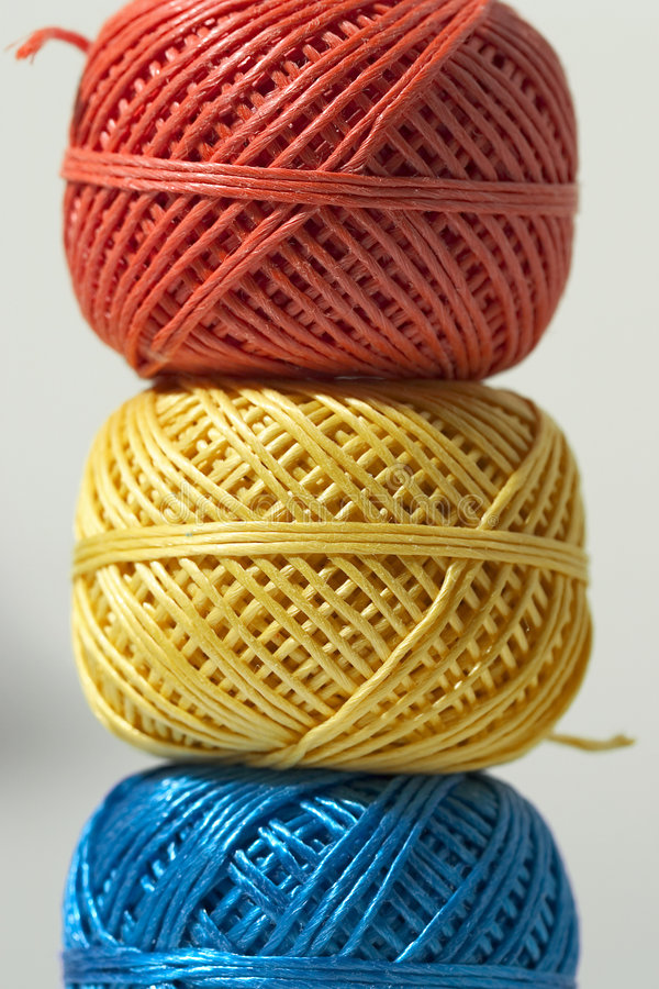 Três esferas da corda fotos de stock