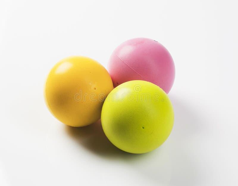 Três esferas da espuma imagens de stock