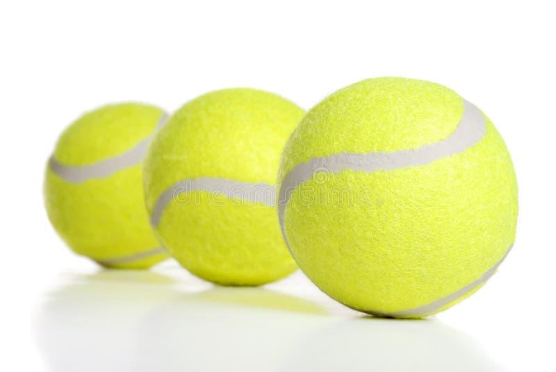 Três esferas de tênis foto de stock royalty free