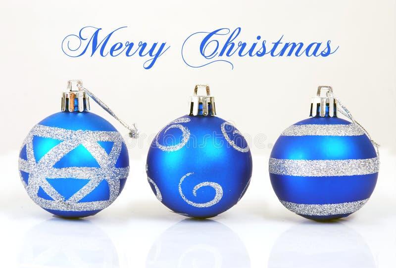 Três bolas do Natal fotos de stock royalty free