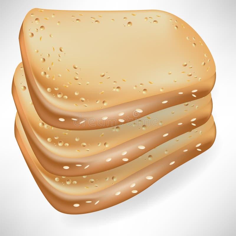 Três fatias de pão ilustração royalty free