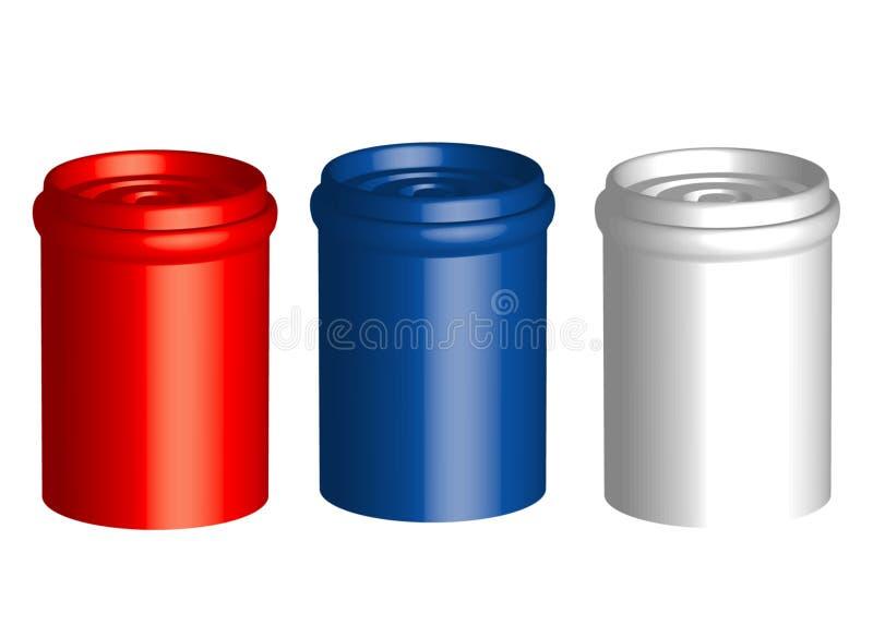 Três frascos ilustração stock