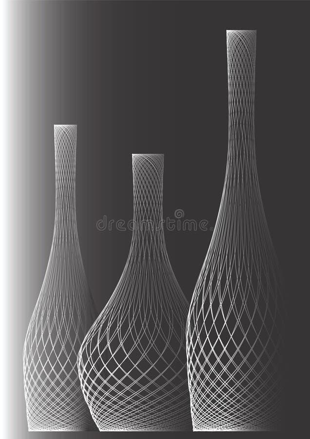 Três frascos ilustração do vetor