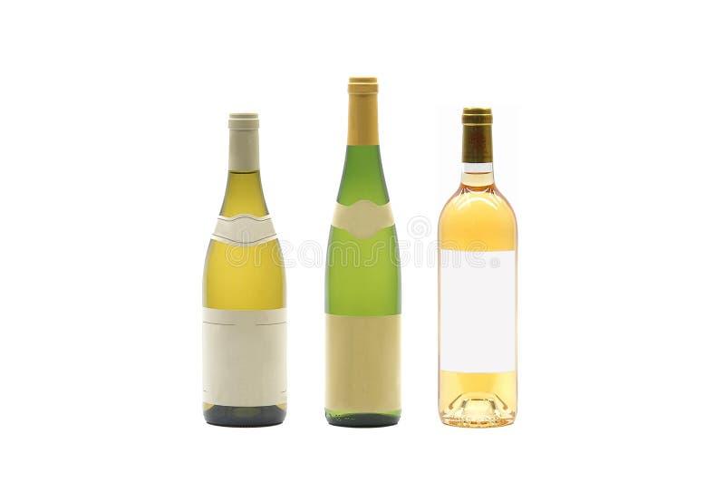 Três frascos de vinho foto de stock