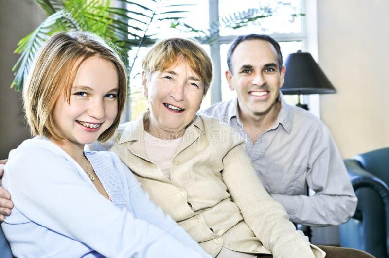 Três gerações fotografia de stock royalty free