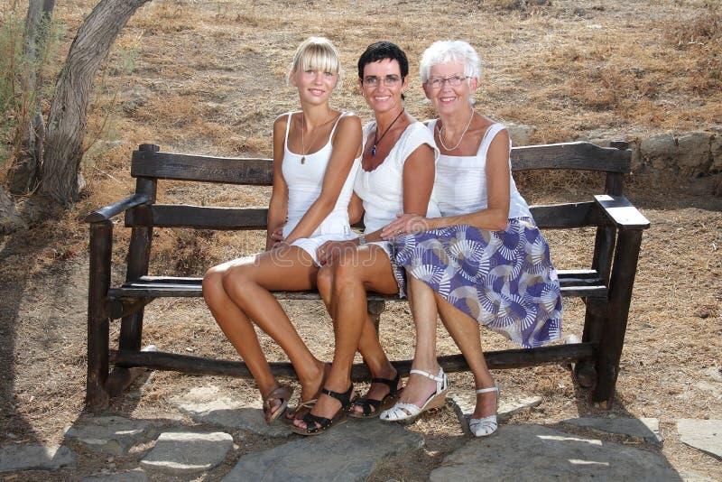 Três gerações de beleza imagens de stock royalty free
