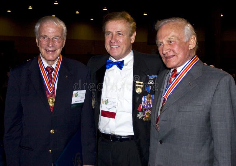 Três heróis de Estados Unidos fotos de stock