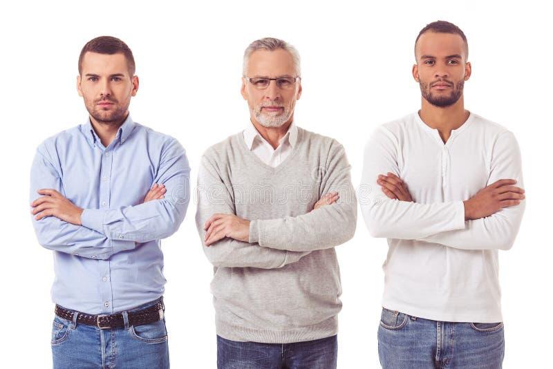 Três homens de negócios consideráveis fotos de stock royalty free