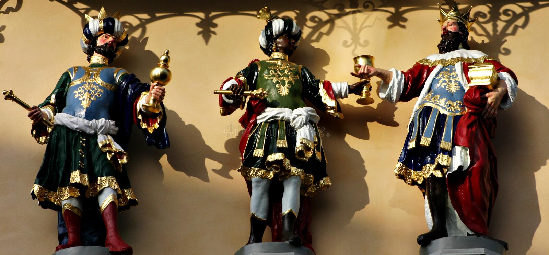 Três homens sábios fotos de stock royalty free