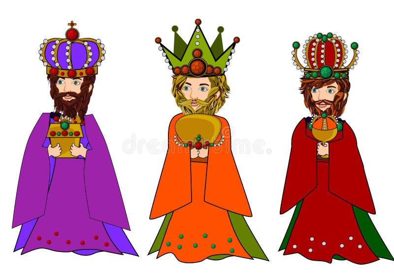 Três homens sábios ilustração royalty free