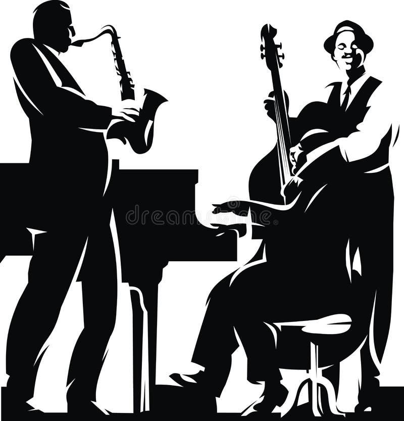 Três jazzmans ilustração do vetor