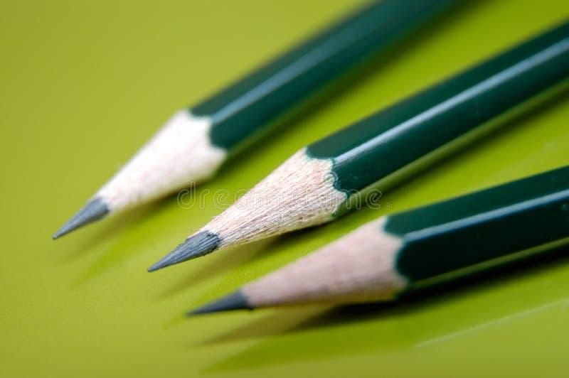 Três lápis fotos de stock